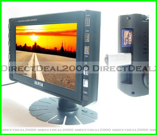 "Mini 7"" Digital TFT LCD Monitor TV AV SD Card USB Input"